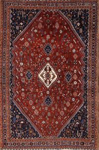 Antique 5x7 Kashkoli Shiraz Persian Oriental Area Rug