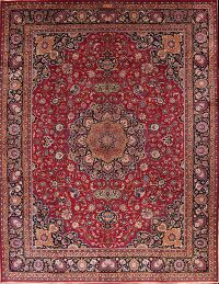 Floral 11x15 Mashad Persian Area Rug
