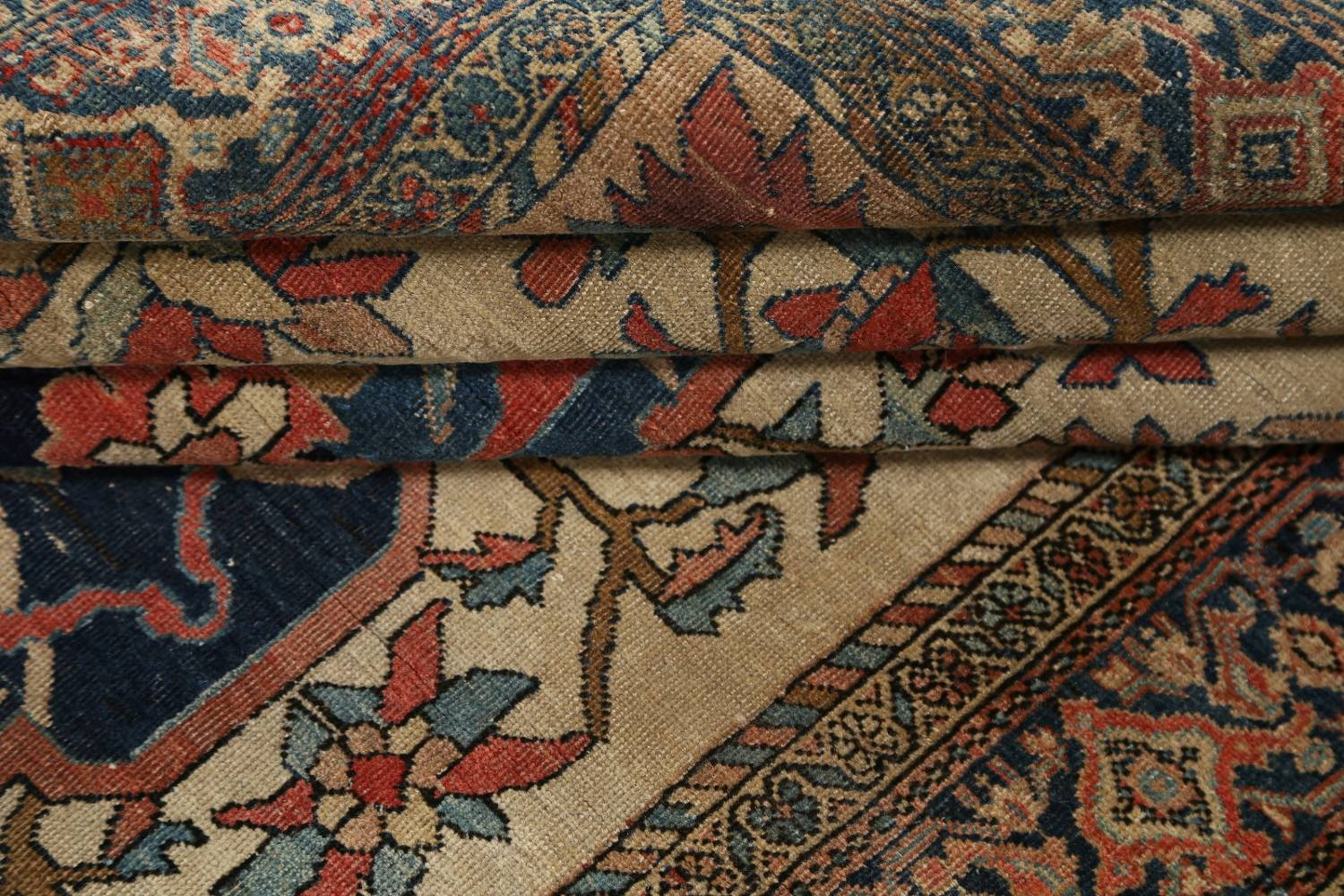 Pre-1900 Antique Floral Sarouk Farahan Persian Hand-Knotted 4'x7' Wool Area Rug image 18