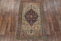 Pre-1900 Antique Floral Sarouk Farahan Persian Hand-Knotted 4'x7' Wool Area Rug image 2