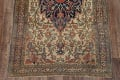 Pre-1900 Antique Floral Sarouk Farahan Persian Hand-Knotted 4'x7' Wool Area Rug image 5