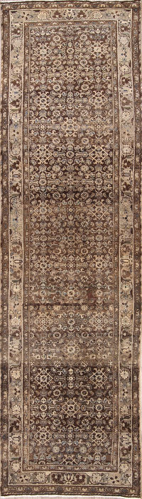 All Over-Geometric 4x13 Malayer Hamadan Persian Rug Runner