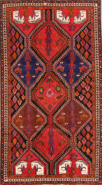 Vintage 5x9 Shiraz Persian Area Rug