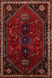 Geometric Abadeh Nafar Persian Tribal Area Rug 5x8