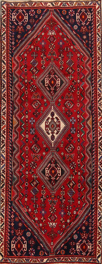 4x11 Abadeh Shiraz Persian Rug Runner