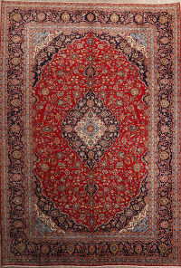 10x14 Kashan Persian Area Rug