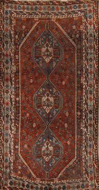 Antique Tribal 7x9 Qashqai Shiraz Persian Area Rug