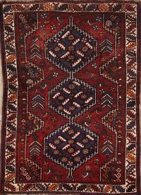 Antique 4x5 Shiraz Persian Area Rug