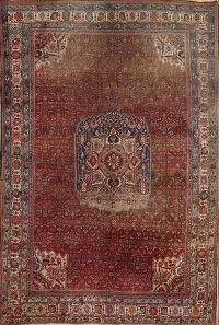 Antique Persian Bidjar Area Rug 7x11