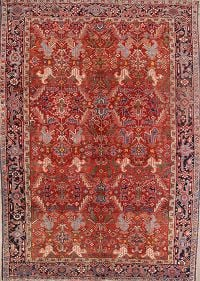 Heriz Serapi Antique Persian Area Rug 8x11