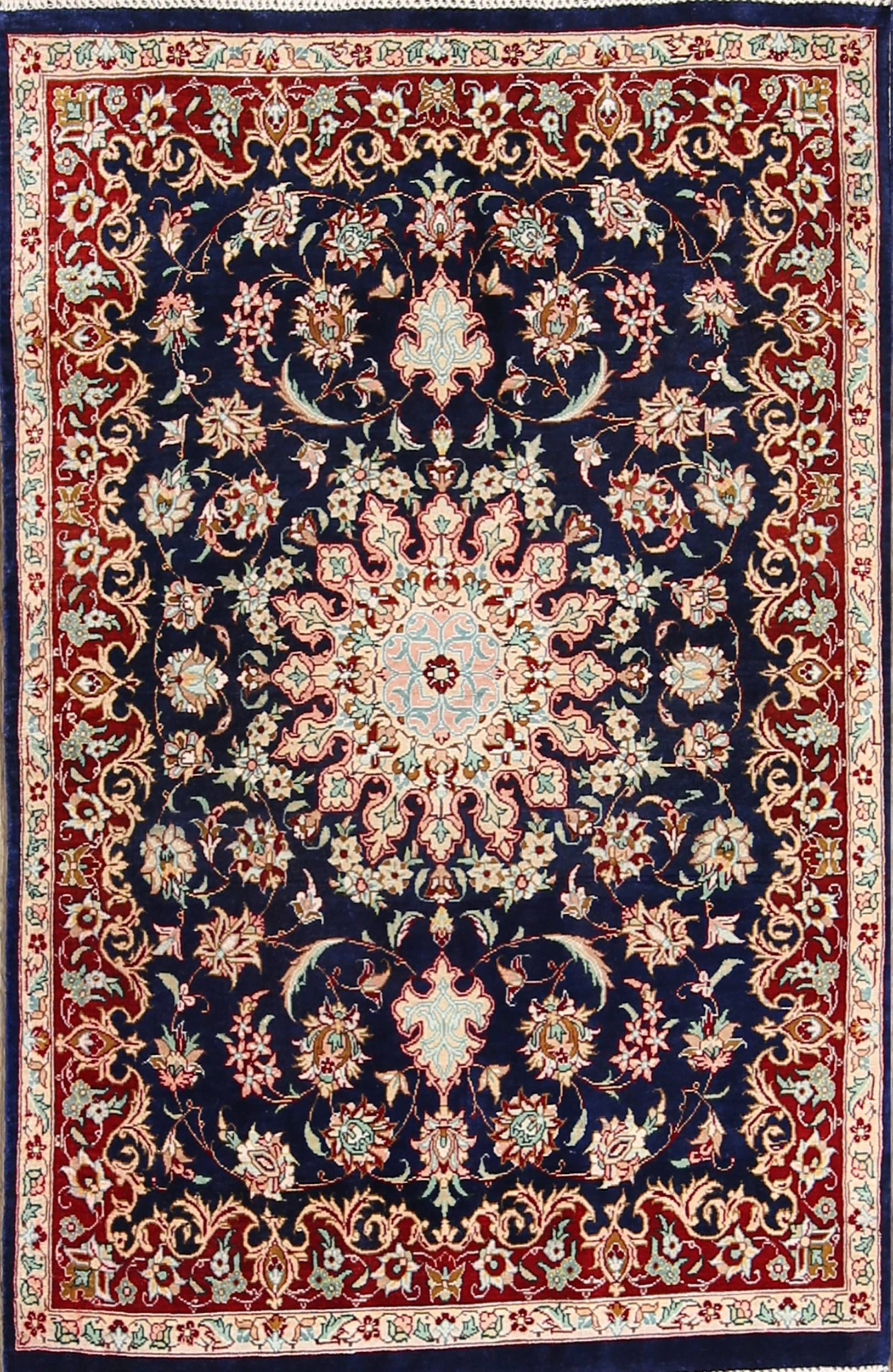 2x3 Qum Silk Persian Area Rug
