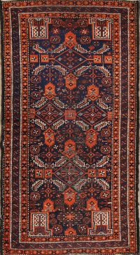 Antique Balouch Afghan Oriental Runner Rugs 3x6