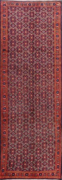 All-Over Floral 4x10 Sarouk Persian Rug Runner