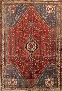 6x8 Abadeh Shiraz Persian Area Rug