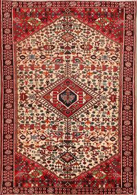 Geometric Tribal Abadeh Shiraz Persian Area Rug 3x5
