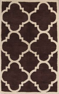 Modern Trellis Indian Oriental Area Rug 5x8