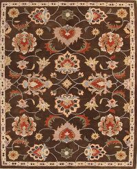 Floral Brown Oushak Agra Oriental Area Rug 8x10