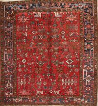 8x8 Heriz Persian Area Rug
