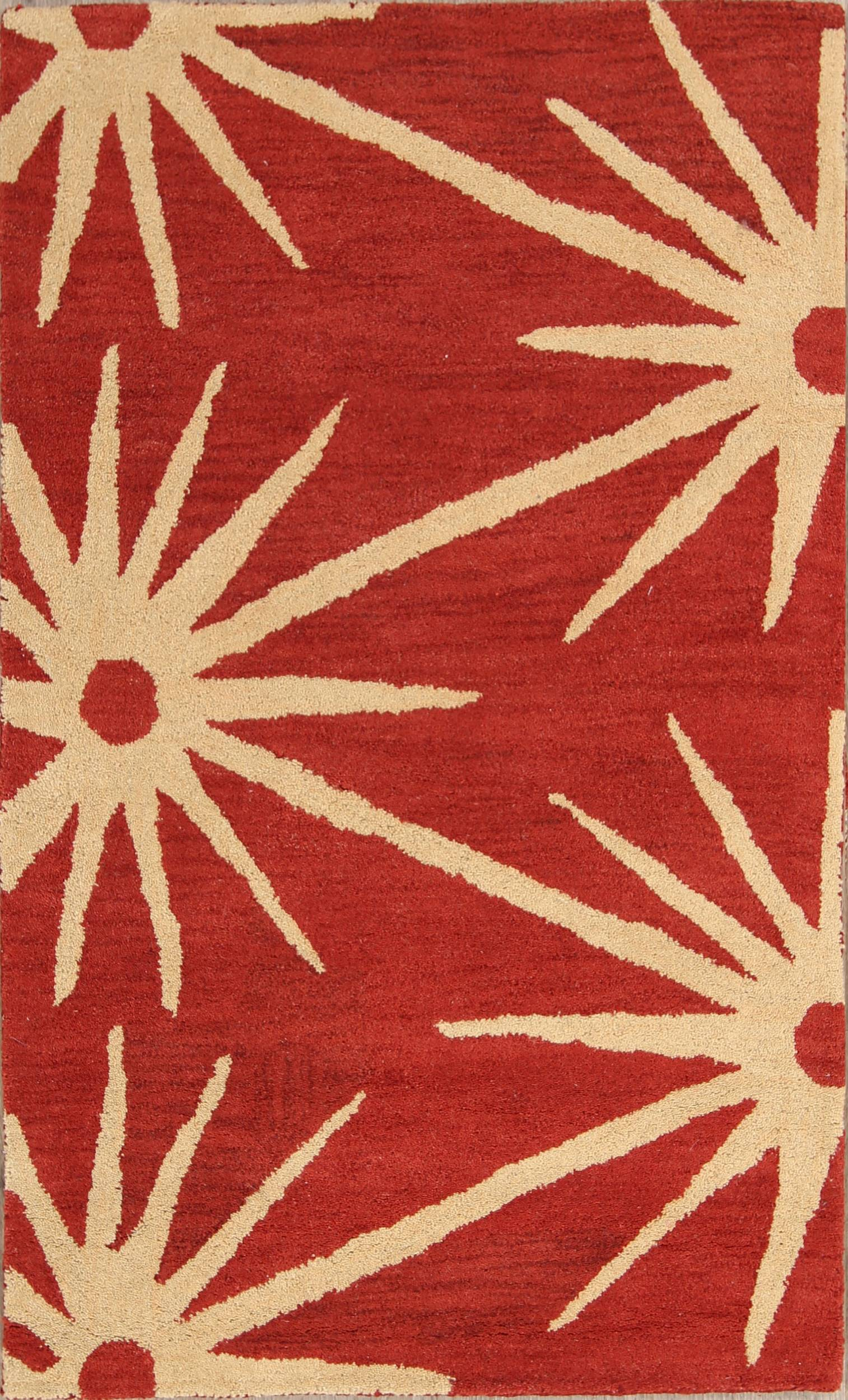 All Over Oushak Indian Oriental Hand Tufted 3x5 Area Rug Wool