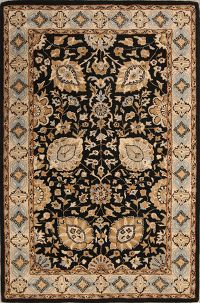Floral Agra Indian Oriental Hand-Tufted 5x8 Wool Area Rug