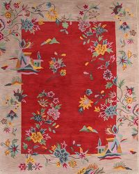 Hand-tufted Chinese Style Floral Oriental Area Rug