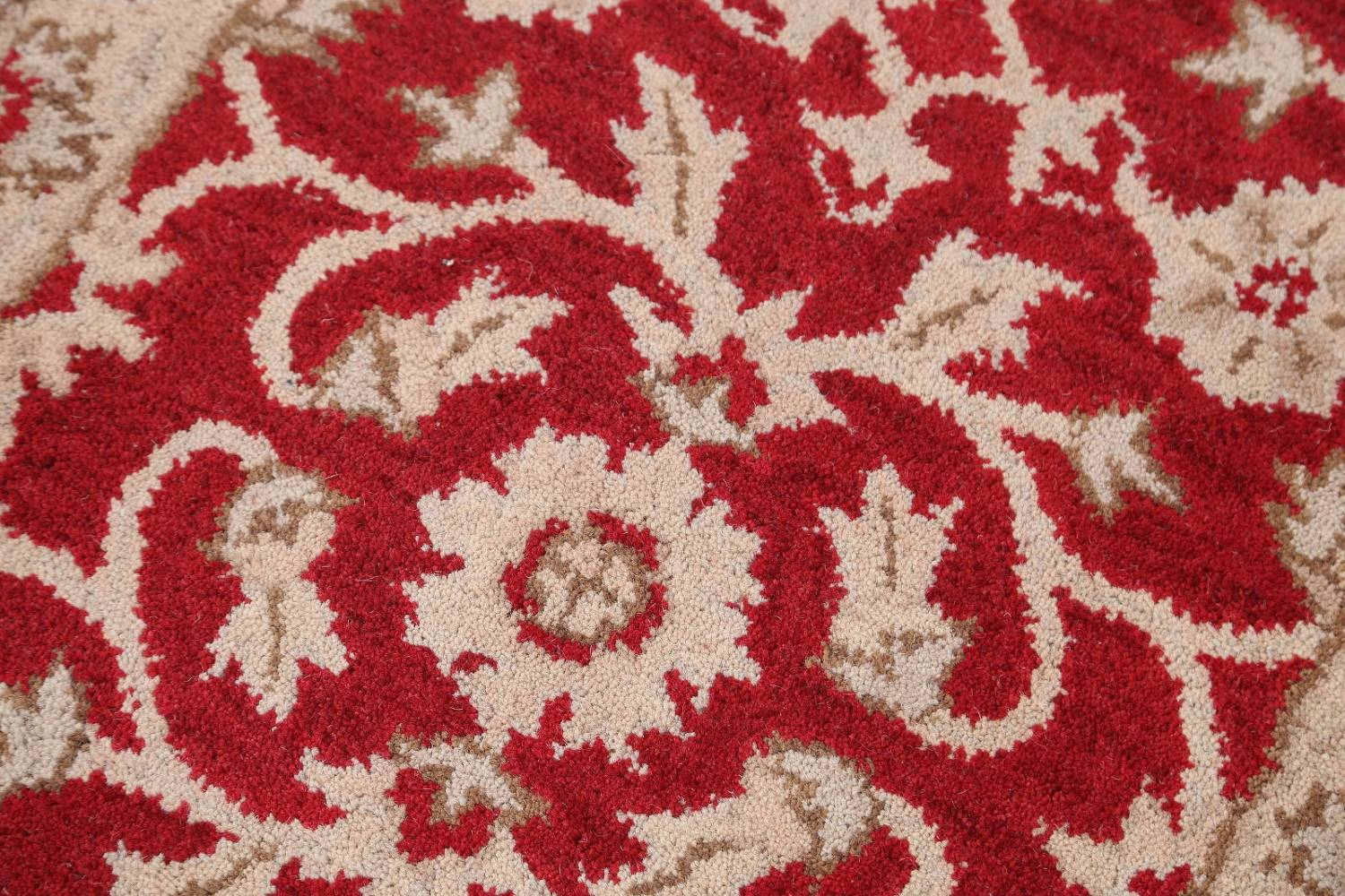 All-Over Floral Red Oushak Agra Oriental Area Rug image 3