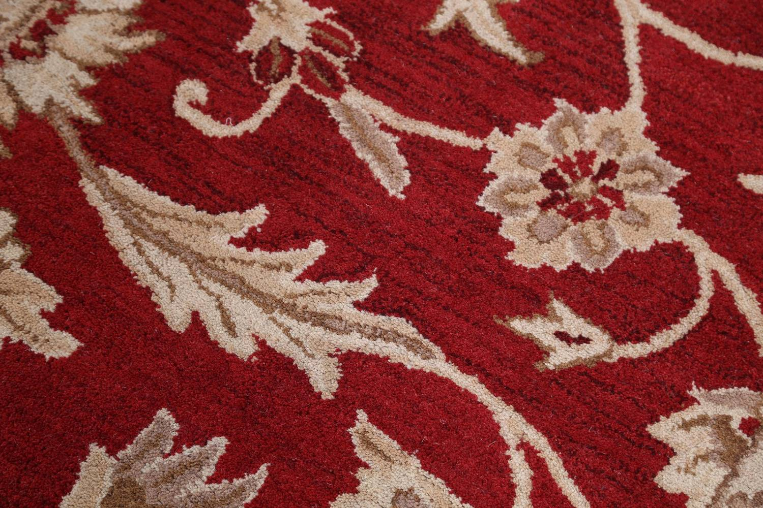 All-Over Floral Red Oushak Agra Oriental Area Rug image 9