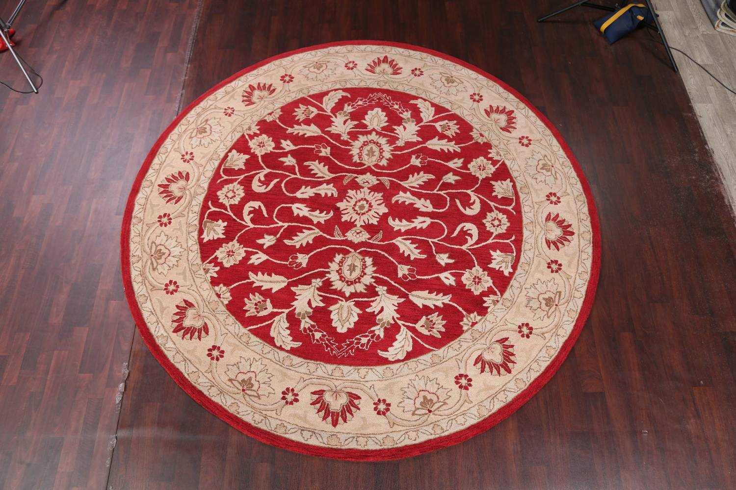 All-Over Floral Red Oushak Agra Oriental Area Rug image 11