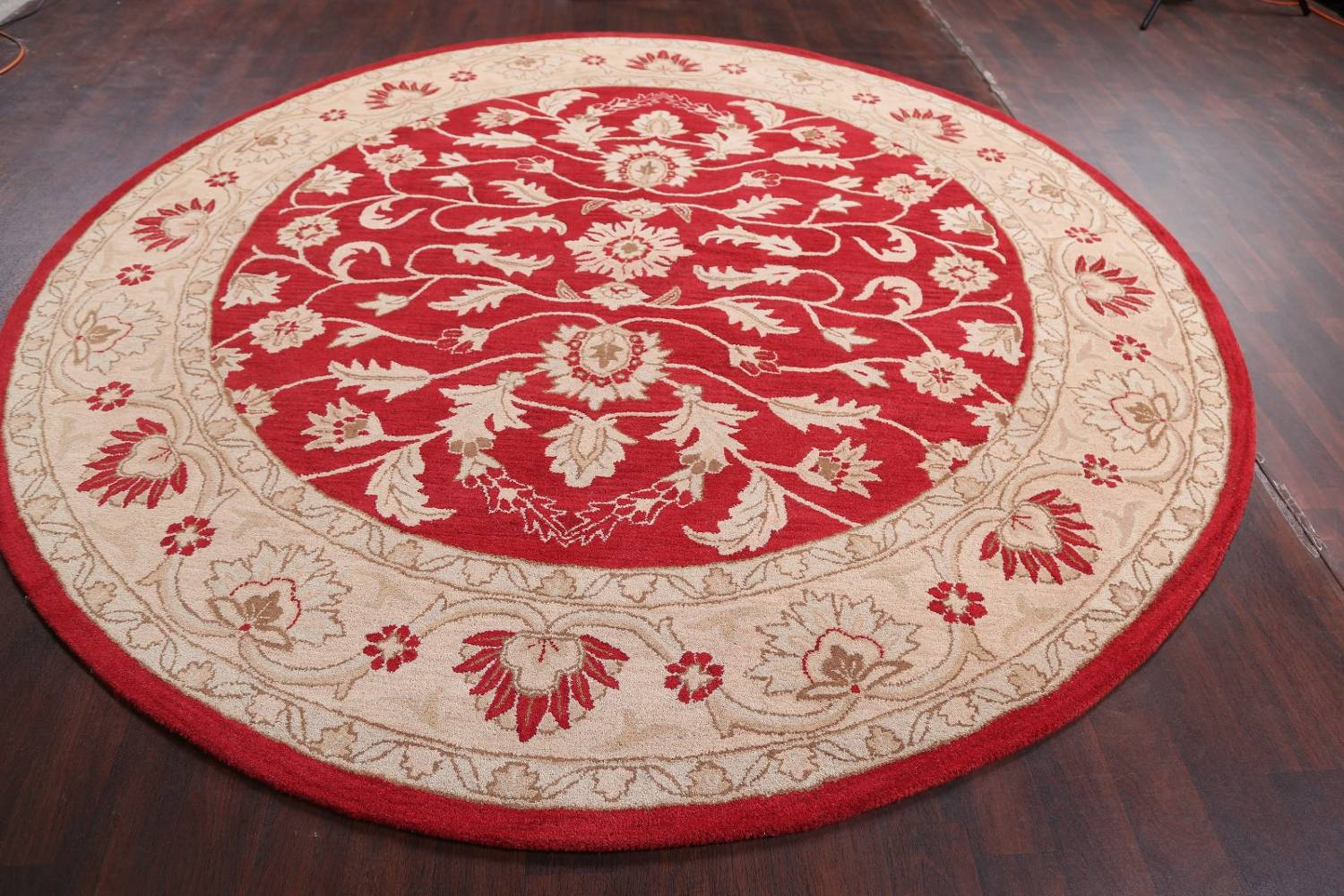 All-Over Floral Red Oushak Agra Oriental Area Rug image 13