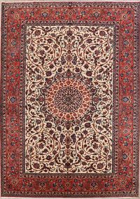 Floral Medallion 10x13 Isfahan Persian Area Rug