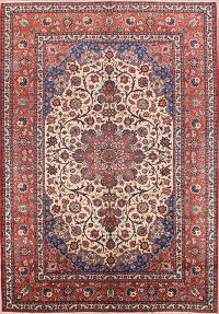 Floral 9x13 Isfahan Persian Area Rug