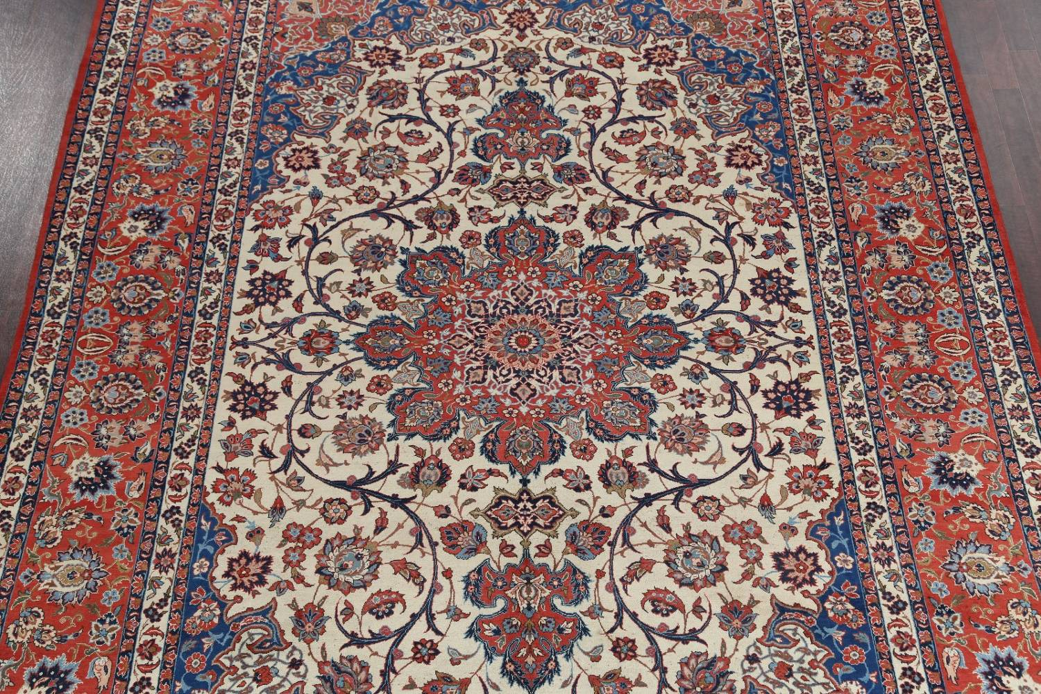 Floral 9x13 Isfahan Persian Area Rug image 4