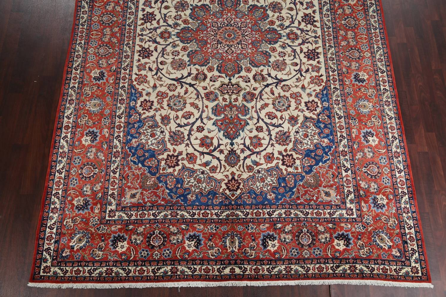 Floral 9x13 Isfahan Persian Area Rug image 6
