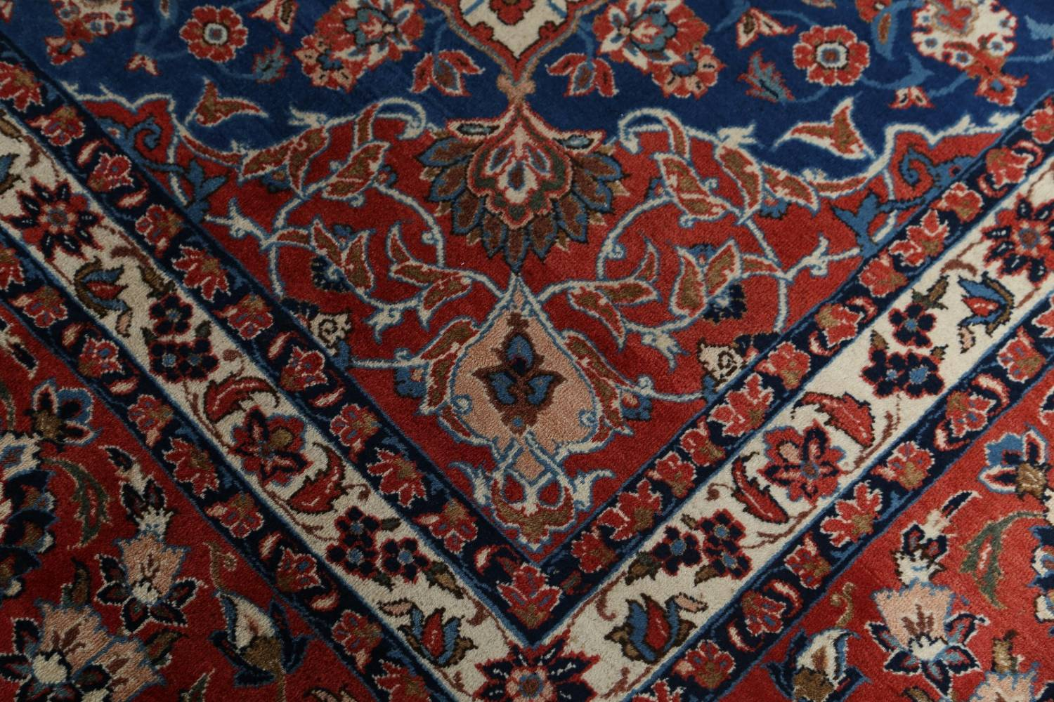 Floral 9x13 Isfahan Persian Area Rug image 10