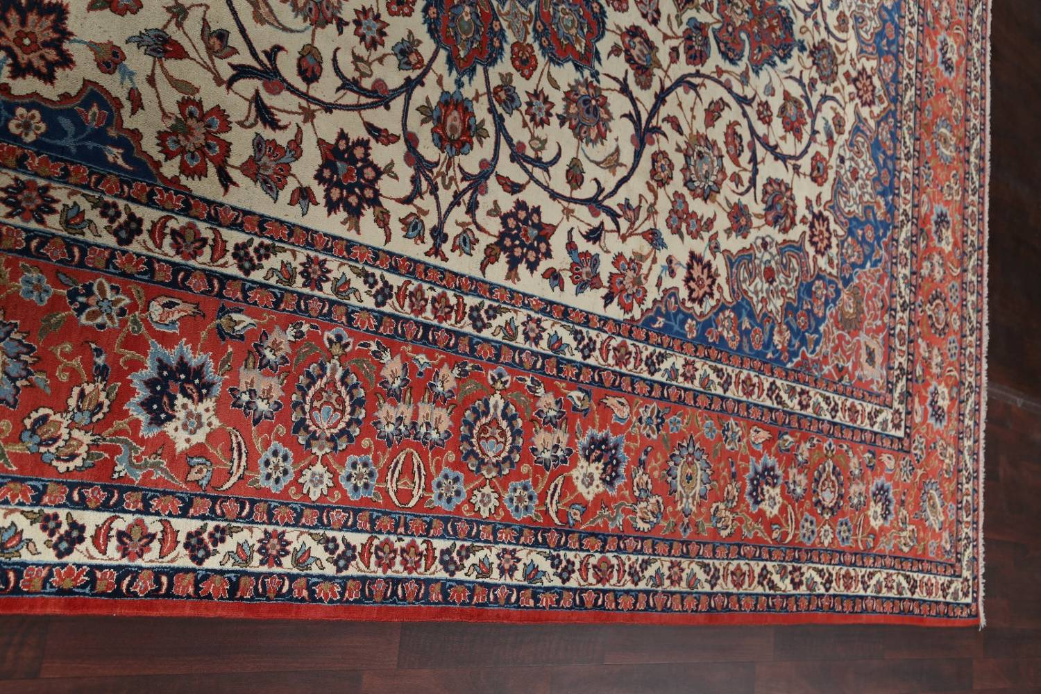 Floral 9x13 Isfahan Persian Area Rug image 14