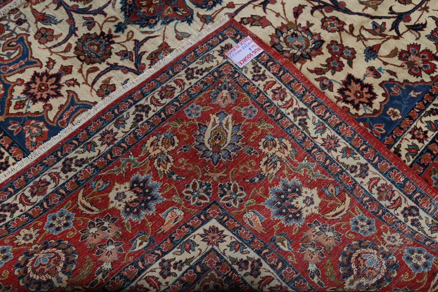 Floral 9x13 Isfahan Persian Area Rug image 21