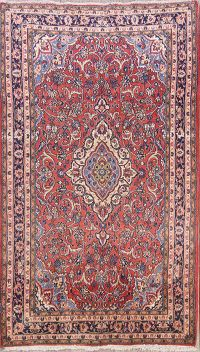 Floral Vintage 4x7 Sarouk Persian Hand-Knotted Area Rug