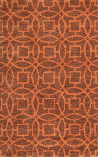 Hand-Tufted Circles  Oushak Oriental Area Rug