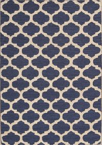 Hand-tufted Trellis Indian Oriental Area Rug