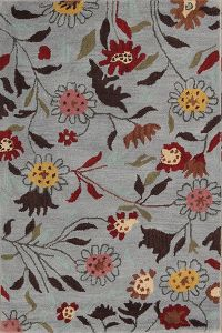 Hand-tufted  Transitional Floral Oriental Area Rug