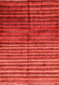 Stripe Red Modern 3x5 Gabbeh Zolanvari Shiraz Persian Area Rug