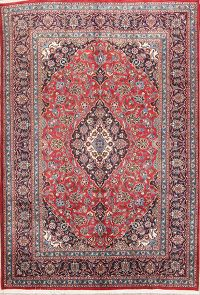 Traditional Floral 7x10 Mashad Persian Area Rug