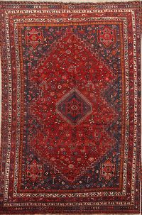 Vegetable Dye Pre-1900 Antique 7x11 Lori Shiraz Persian Area Rug