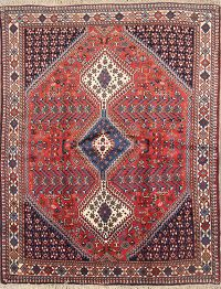 Geometric Tribal Yalameh Shiraz  Persian Area Rug 5x6