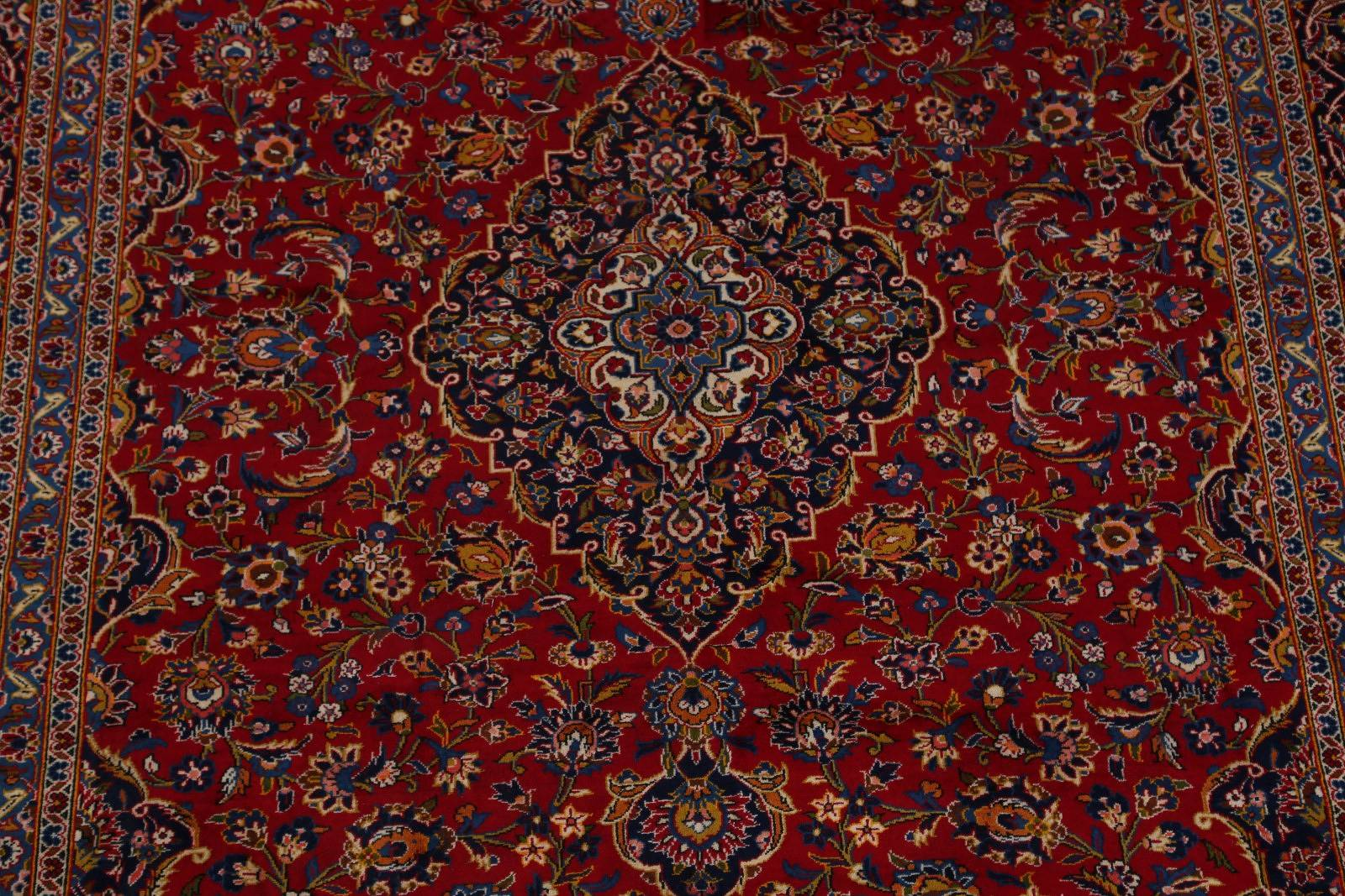 Floral Red 8x12 Kashan Persian Area Rug