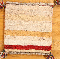1x1 Gabbeh Shiraz Persian Area Rug