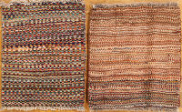 Package Of 2 Gabbeh Shiraz Persian Area Rug 1x2
