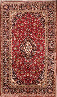 Red Floral 7x11 Kashan Persian Area Rug