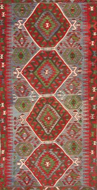 5x10 Kilim Vegetable Dye Russian Oriental Area Rug