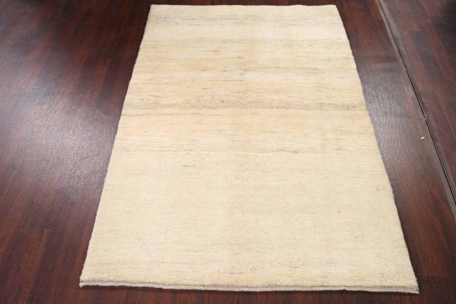 Solid Gabbeh Shiraz Persian Modern Hand-Knotted Wool Rug 4x6 image 9